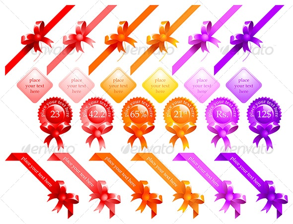 web ribbons - Commercial / Shopping Conceptual