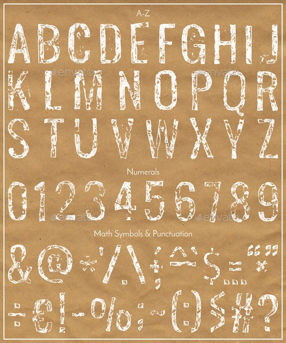 Stamped Font - Miscellaneous Graphics
