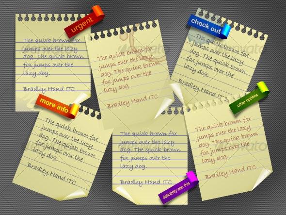 sticky pads - Web Elements