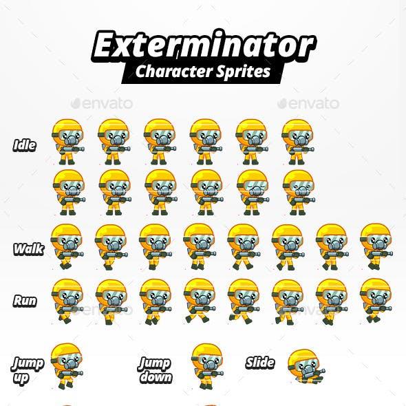 Exterminator Character Sprites