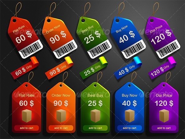 tags stickers and labels - Web Elements