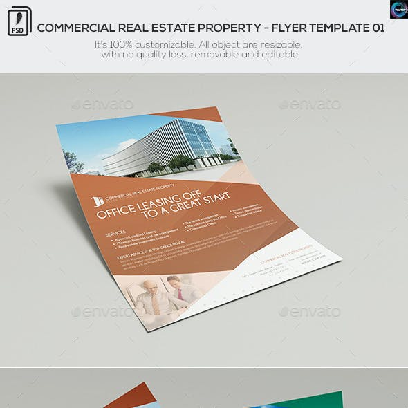Commercial Real Estate Property - Flyer Template 01