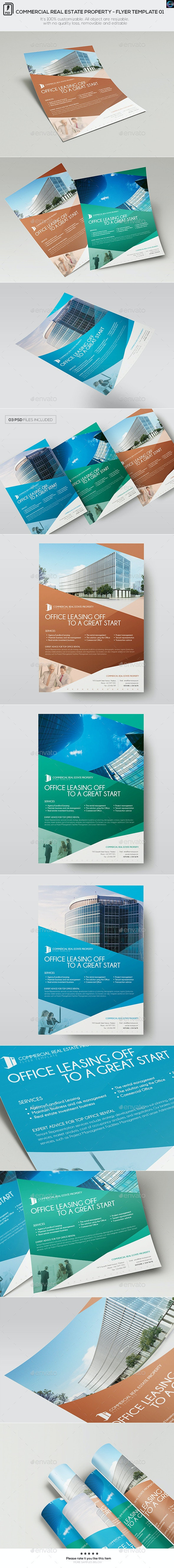 Commercial Real Estate Property - Flyer Template 01 - Commerce Flyers