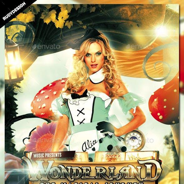 Wonderland Magical Journey Flyer