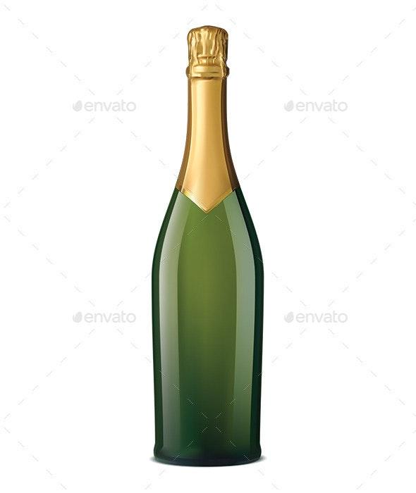 Champagne Bottle - Food Objects