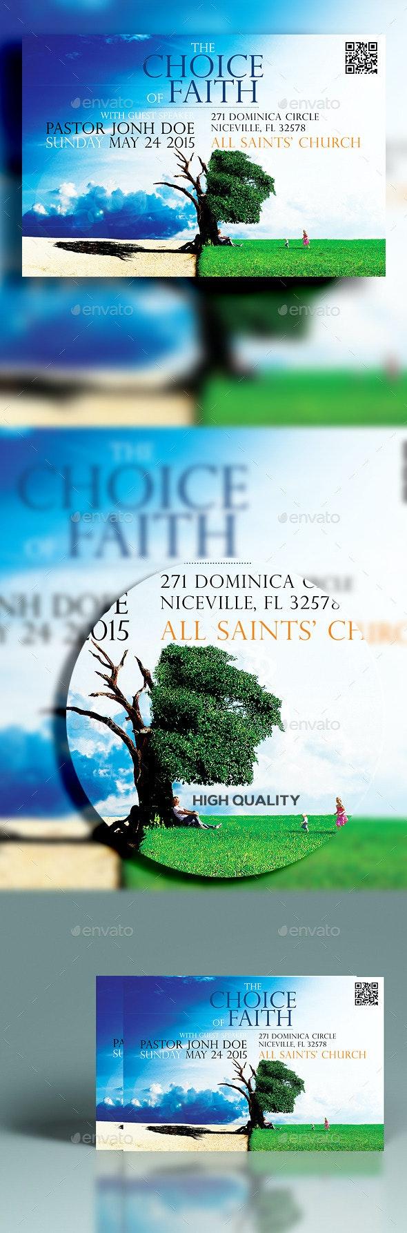 The Choice Of Faith - Church Flyers