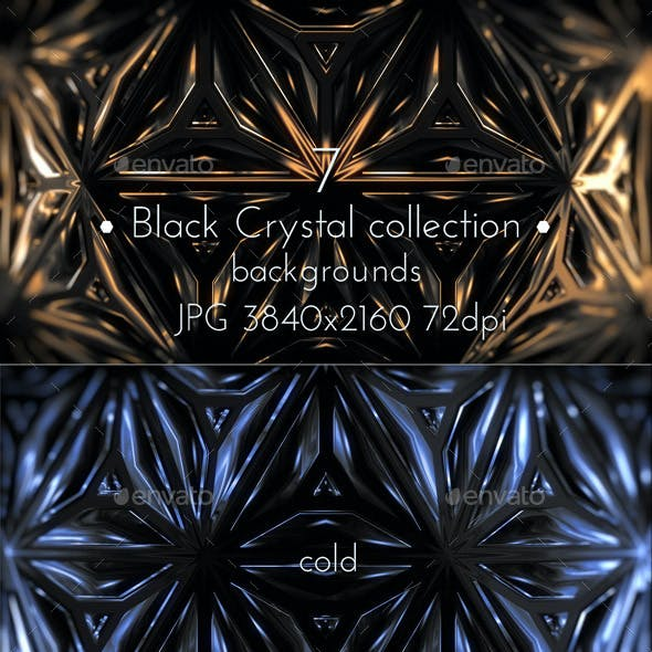 Black Crystal Background