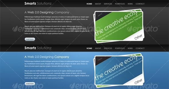 Bold Website Ready Headers - Miscellaneous Web Elements