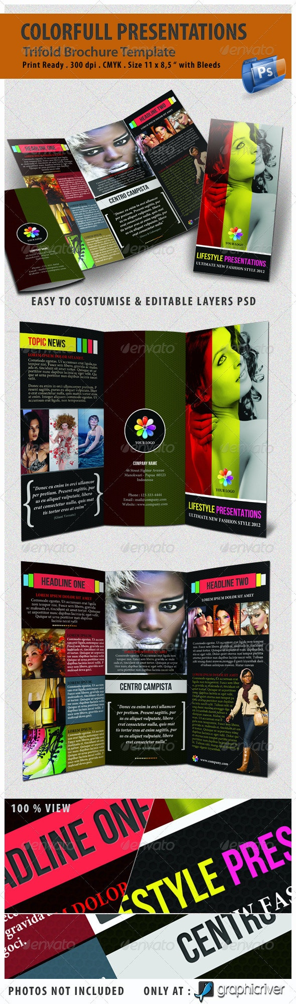 Colorfull Presentations Trifold - Corporate Brochures