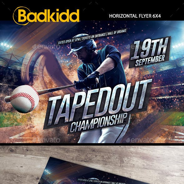 Baseball Horizontal Flyer