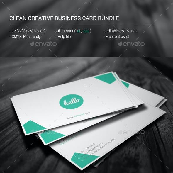 Clean Creative Business Card Bundle