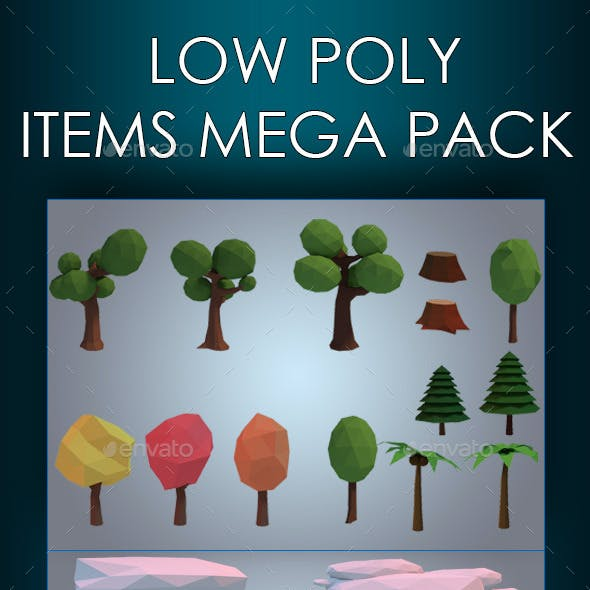 Low Poly Game Environment Mega Pack
