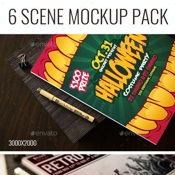 6 Scene Sketch Mockup