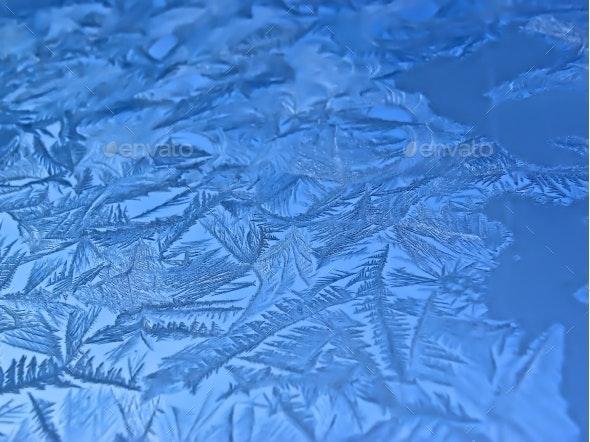 Frosty Pattern On The Window - Seasonal Photo Templates