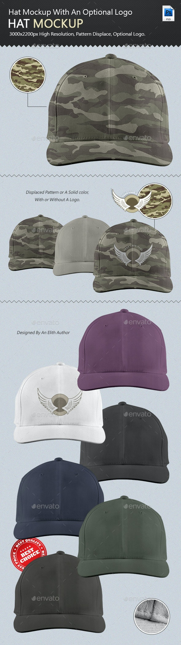 Professional Hat Mock-up - Miscellaneous Apparel