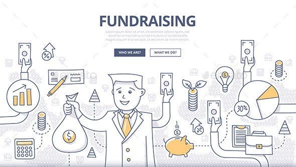 Fundraising Doodle Concept - Concepts Business