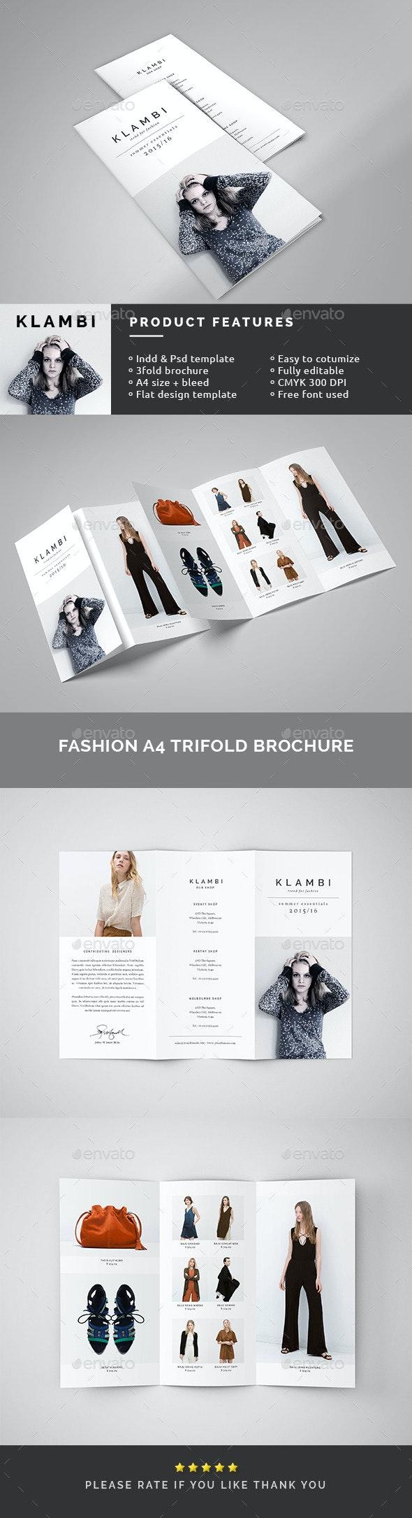 Fashion A4 Trifold Brochure - Catalogs Brochures