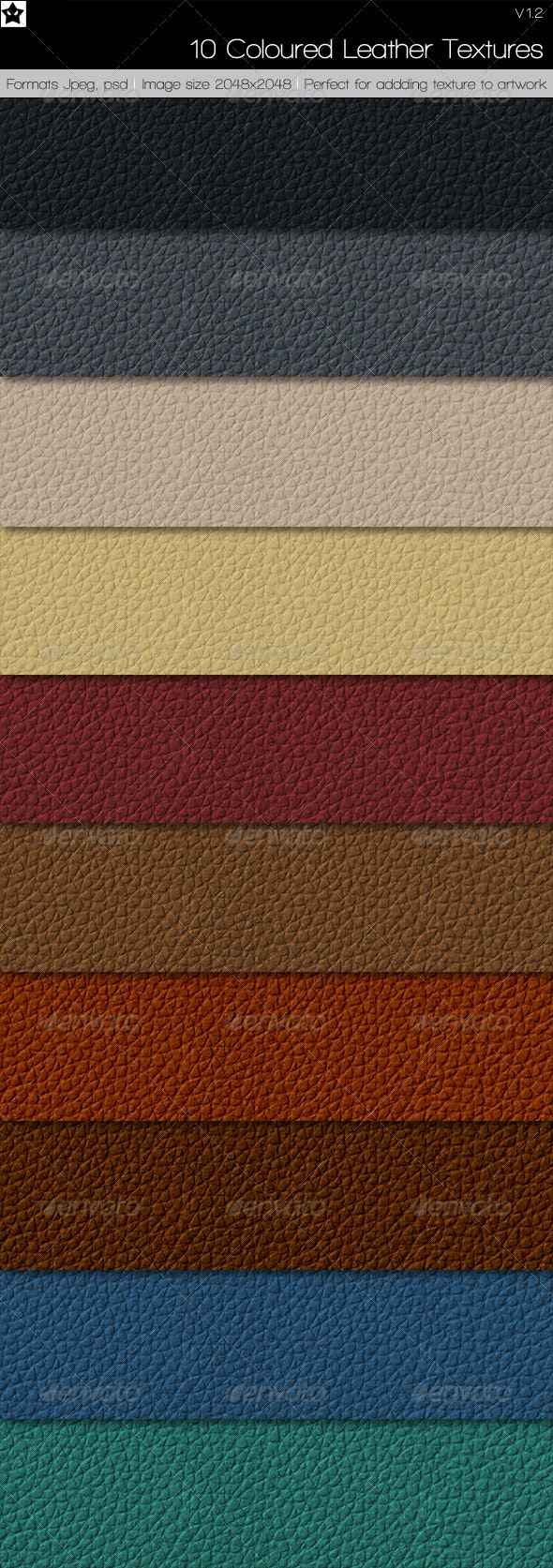 10 Colored Leather Textures - Fabric Textures