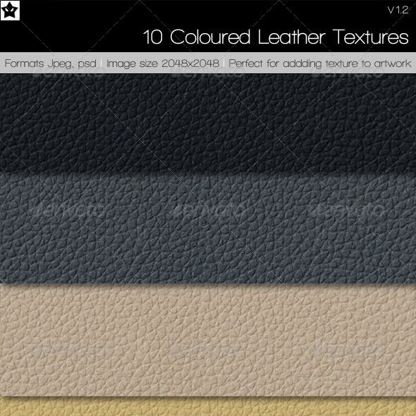 10 Colored Leather Textures