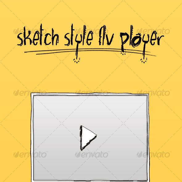 SKETCH STYLE FLV PLAYER