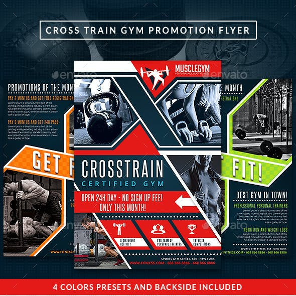 Cross Training Gym Promotion Flyer