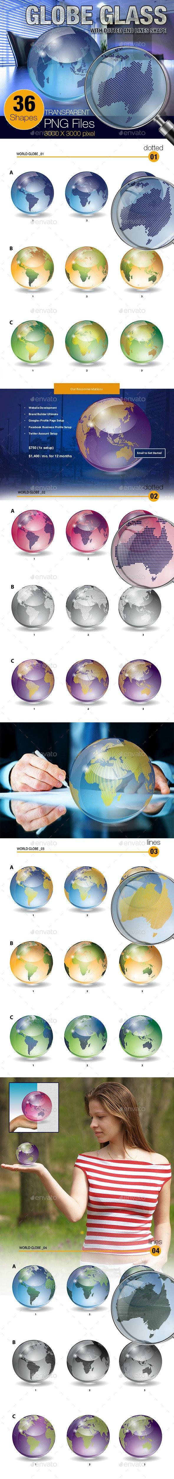 Globe Glass - 3D Renders Graphics