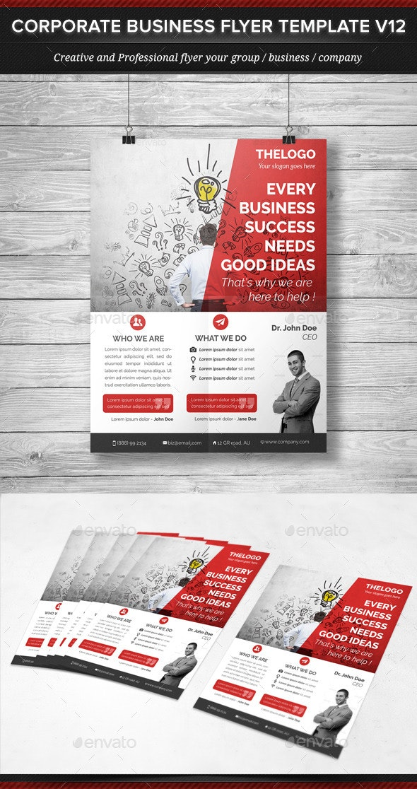 Corporate Business Flyer Template V12 - Corporate Flyers