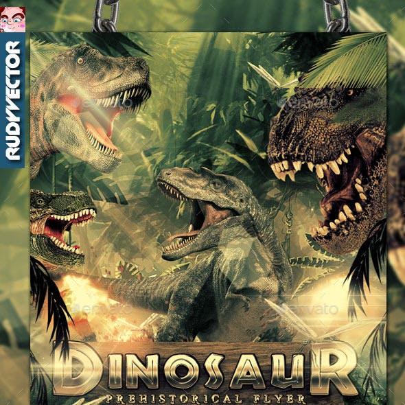 Dinosaur Prehistoric Event Theme Flyer