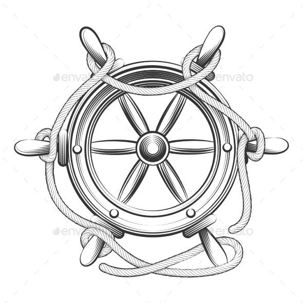 Steering Wheel - Man-made Objects Objects