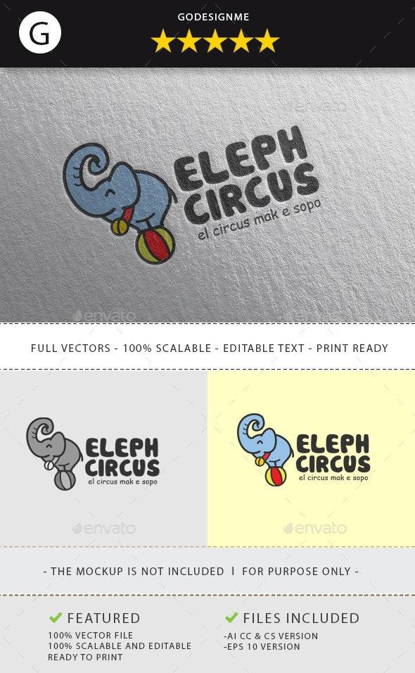 Elephant Circus - Animals Logo Templates