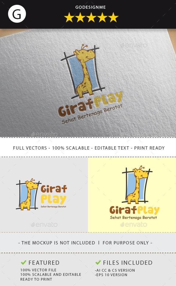 Giraffe Play - Animals Logo Templates