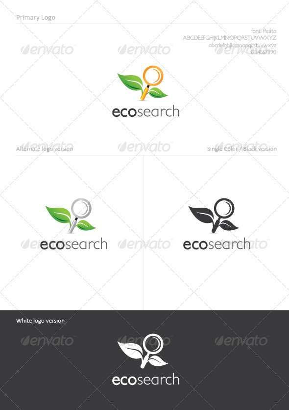 EcoSearch - Nature Logo Templates