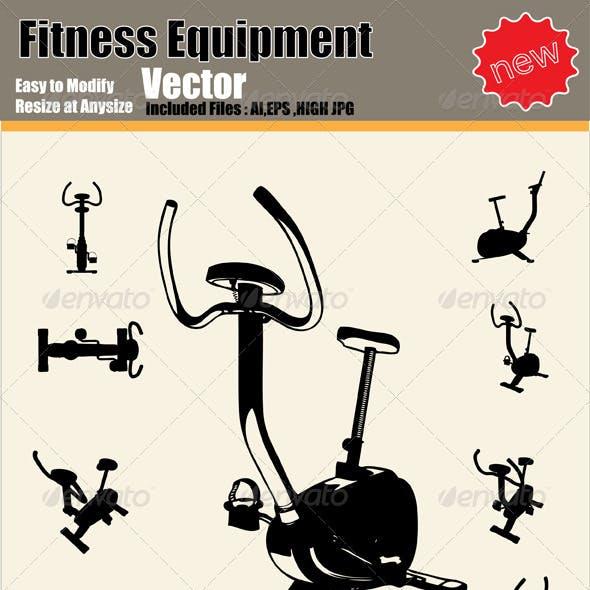 Vector Fitness Equipment Silhouette Set