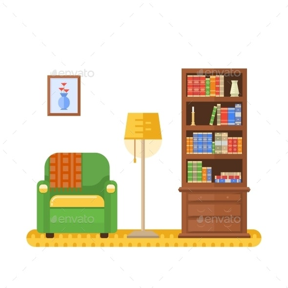 Living Room or Cabinet - Miscellaneous Vectors
