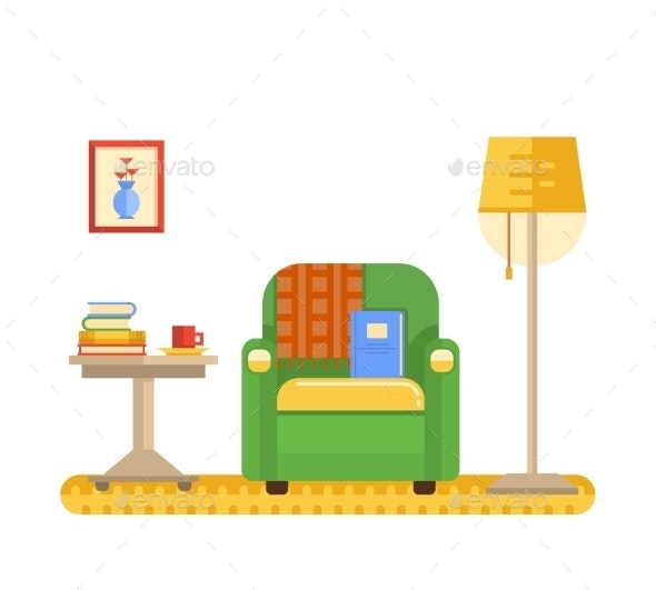 Room Interior with Armchair - Miscellaneous Vectors