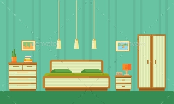 Illustration of Bedroom - Miscellaneous Vectors