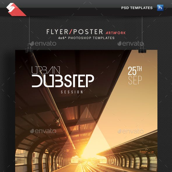Urban Dubstep Session - Party Flyer Template