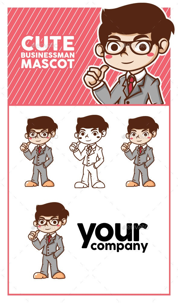Businessman Mascot - People Characters