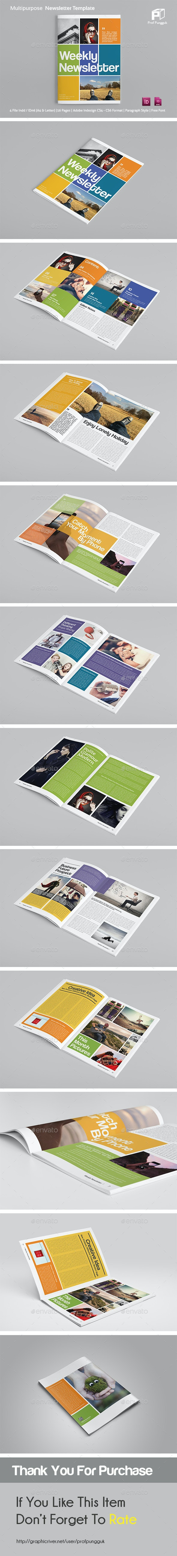 Modern Colorful Newsletter - Newsletters Print Templates