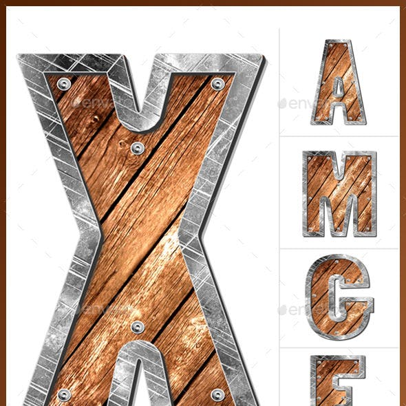 Stone & Wooden Letters from A to Z - HQ