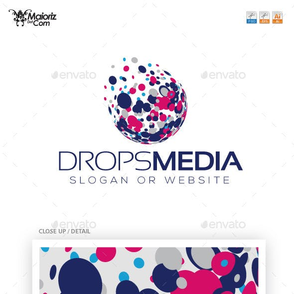 Drops Media Logo Template