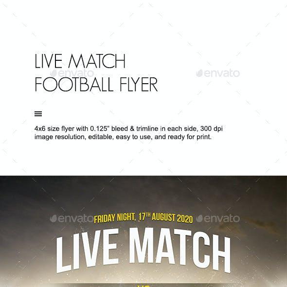 Live Match Football Flyer
