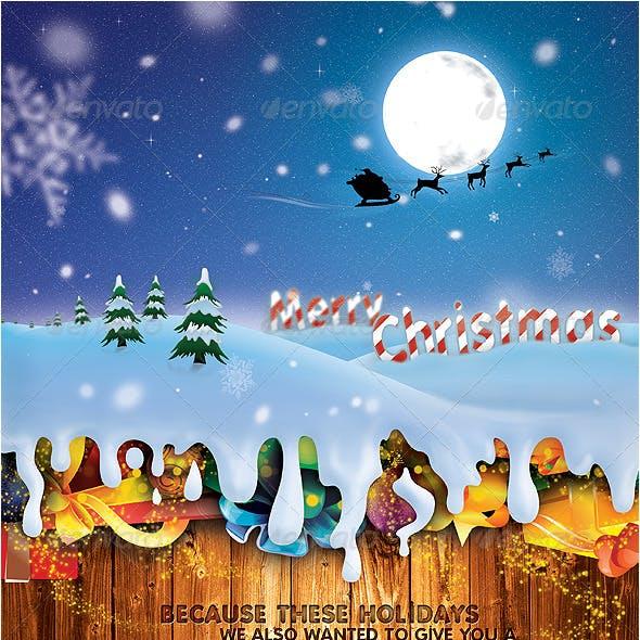 Wonderful Christmas Flyer & Postcard