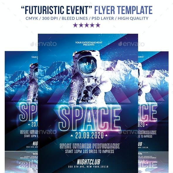 Futuristic Night Event   Psd Flyer Templates