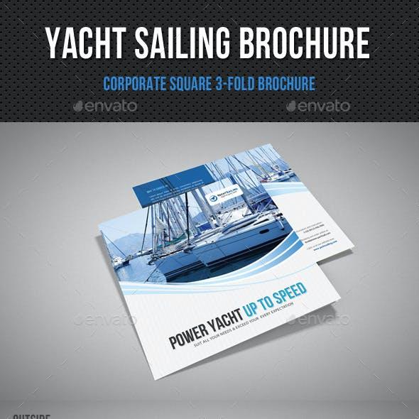 Yacht Boat Sailing Square 3-Fold Brochure 03
