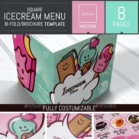 Illustrations Ice cream Brochure Menu Template