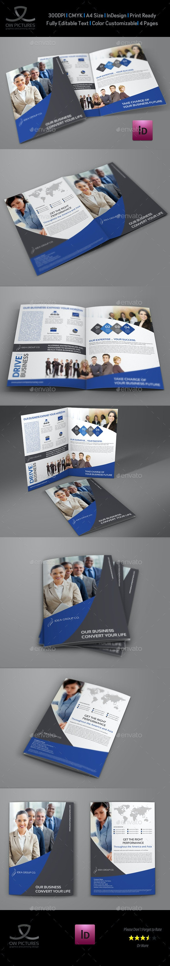 Company Brochure Bi-Fold Template Vol.31 - Corporate Brochures