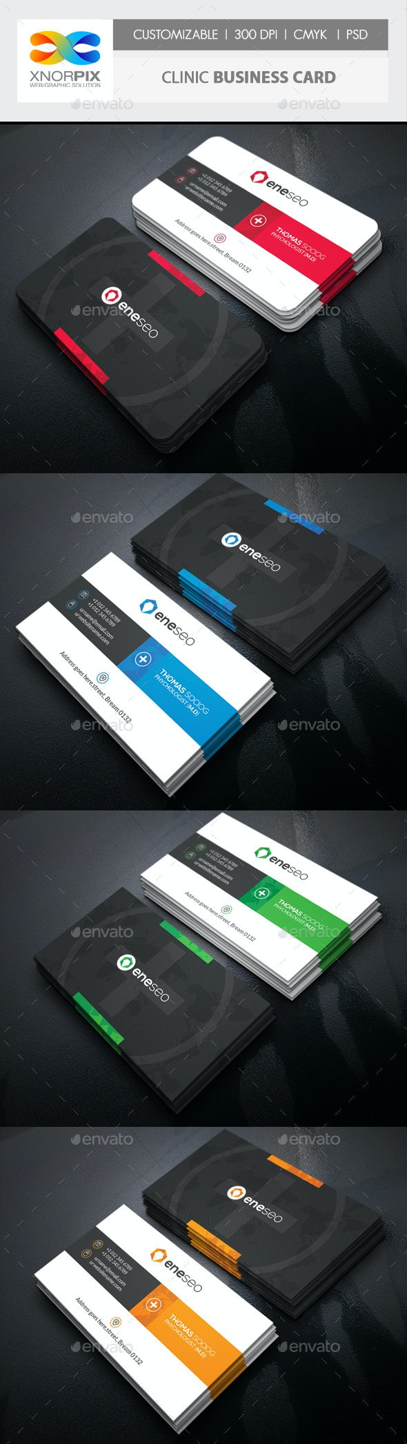 Clinic Business Card - Corporate Business Cards