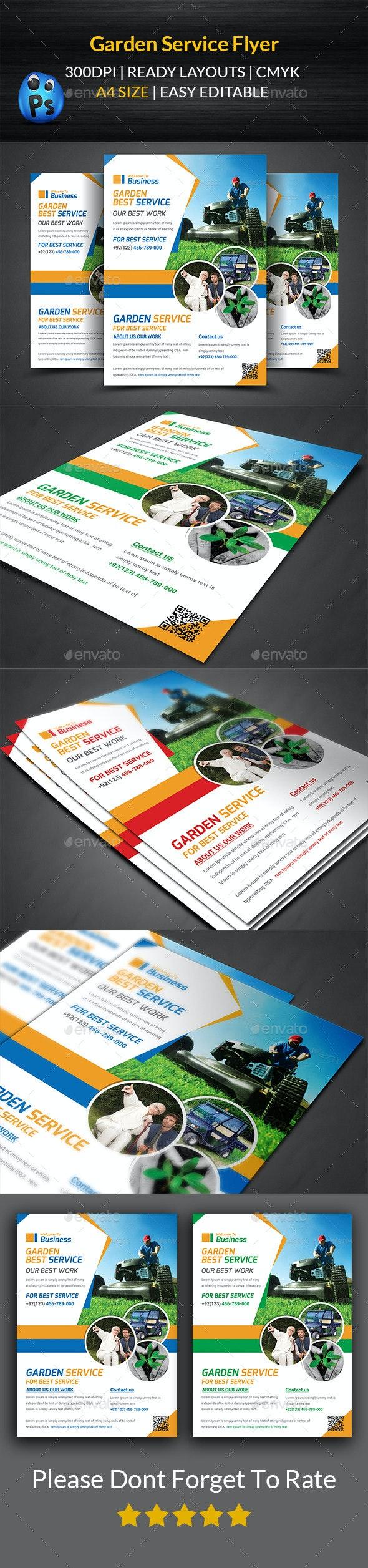 Garden Services Flyer Template  - Corporate Flyers