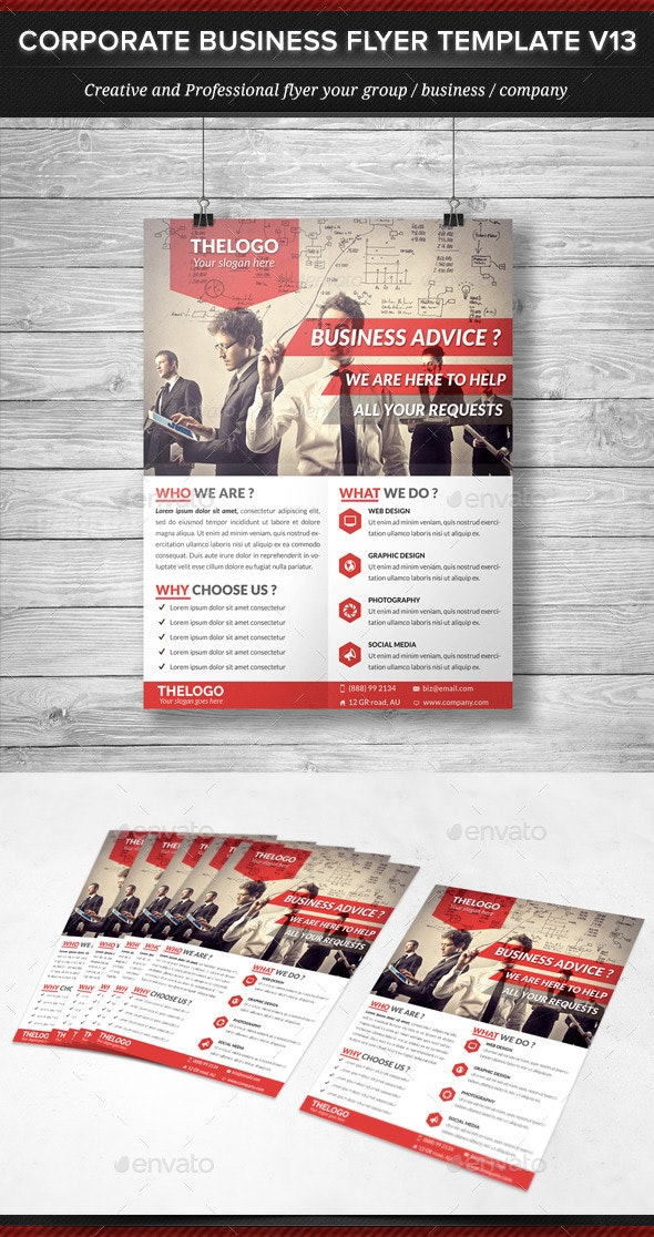 Corporate Business Flyer Template V13 - Corporate Flyers